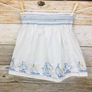 Lilly Pulitzer Sail Away Smocked Skirt Sailboat